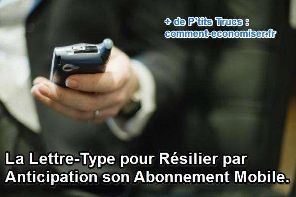 Vous avez besoin d'aide pour rédiger votre lettre de résiliation par anticipation ? Pas de panique, je vous explique tout dans cet article !  Découvrez l'astuce ici : http://www.comment-economiser.fr/lettre-type-resilier-anticipation-abonnement-mobile.html?utm_content=bufferca62f&utm_medium=social&utm_source=pinterest.com&utm_campaign=buffer
