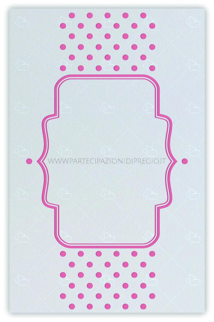 Partecipazione matrimonio - dimensione: 17 x 11 - forma: rettangolare - carta: Gmund Cotton - New Grey - 300, 600, 900 gr. - linea: forme geometriche con cornice - modello: punti laterali con cornice centrale ver. 1 - lavorazione press: trama