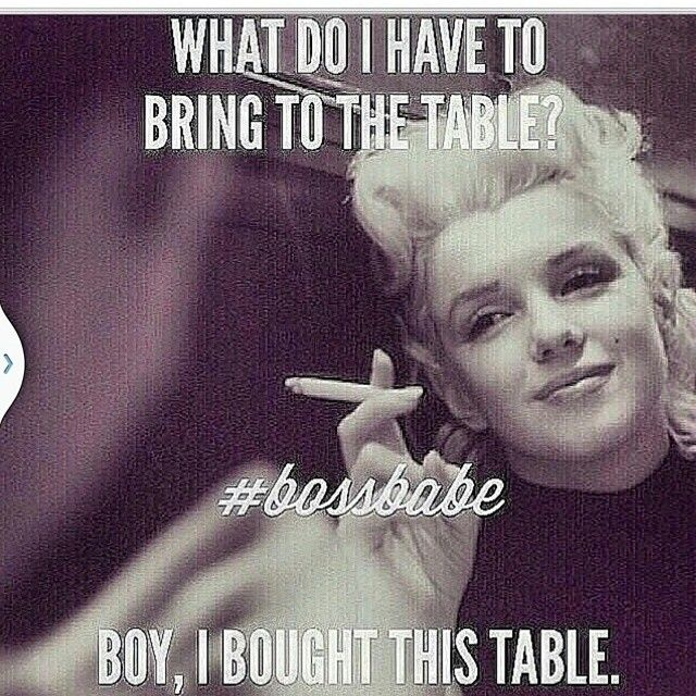 What do I have to bring to the table?