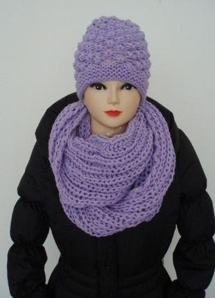 Kupuj mé předměty na #vinted http://www.vinted.cz/doplnky/vlnene-cepice/11131324-fialovy-komplet-cepice-a-nakrcniku