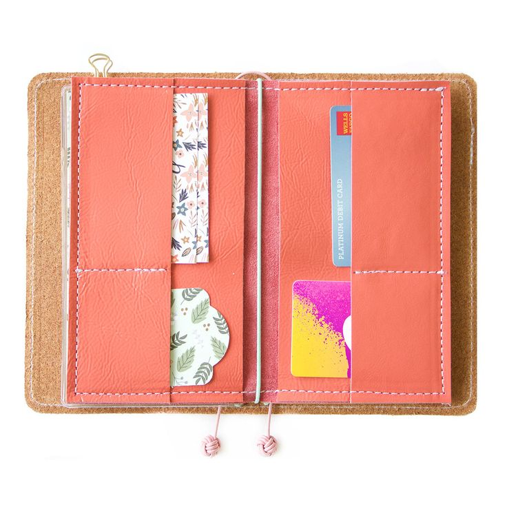 Coral Wallet Insert