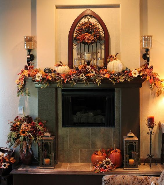 Best 25+ Fall fireplace mantel ideas on Pinterest | Fall fireplace ...