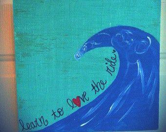 Lona pintura aprender a amar el viaje por JordansCanvas en Etsy