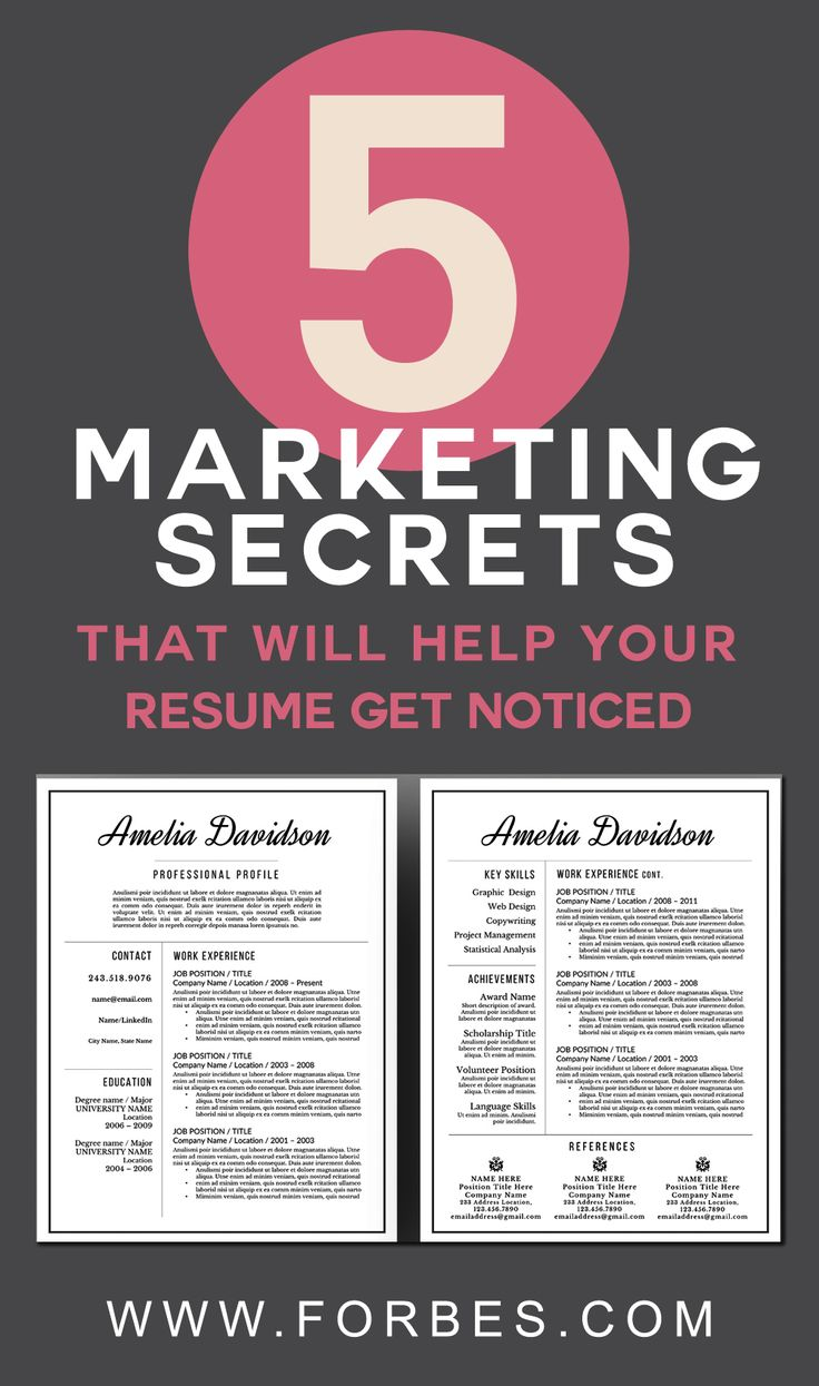 17 best ideas about marketing resume best resume 5 marketing secrets that will help your resume get noticed