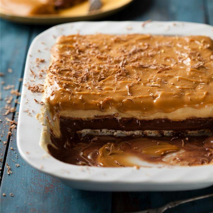 Yskaslagiepoeding - Wie soek 'n skeppie karamel-en-sjokolade-poeding? Kom gou want dié bak word tjoef-tjaf leeg.