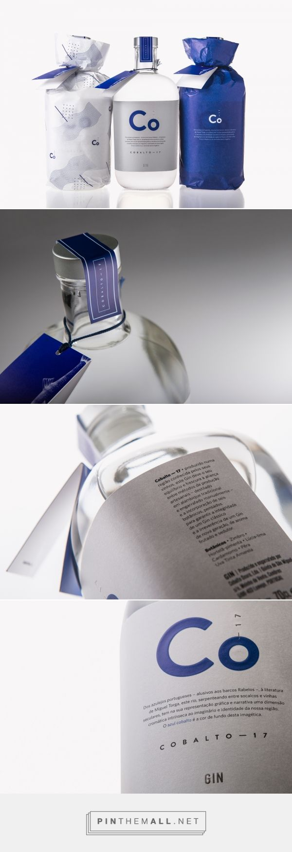 Cobalto-17 via The Dieline - Branding & Packaging Curated by Packaging Diva PD. From the Douro region, usually known for its wines. With packaging designed by Koiástudio, this Portuguese gin takes a crisp and refreshing approach.
