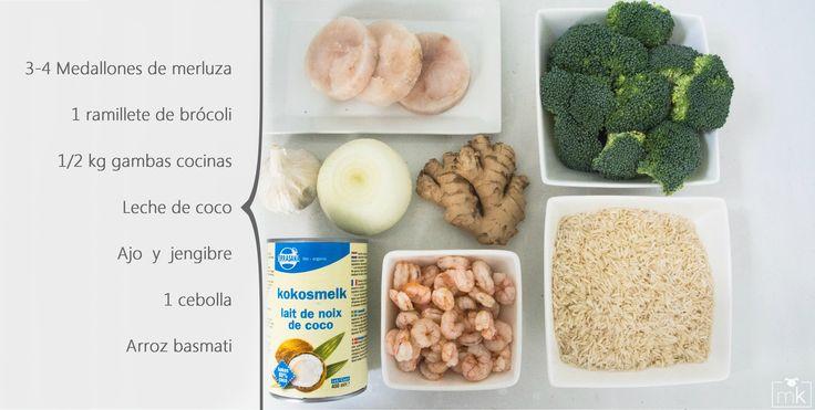 Wok de gambas y brócoli con jenjibre_ IngredientesA