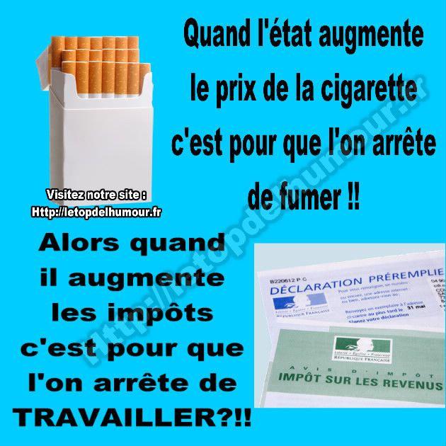L'état augmente le prix des cigarettes.
