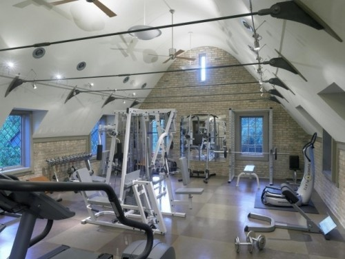 gym Toby the cat's pic: Home Gym Design, Garage Gym, Home Gyms, House Ideas, Fitness, Dream House, Photo, Gym Ideas, Traditional Homes