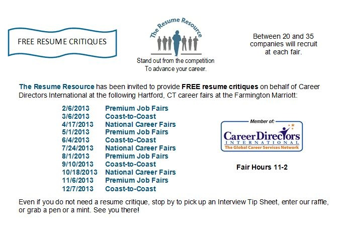 FREE Resume Critiques by The Resume Resource at Hartford, CT - resume critique free