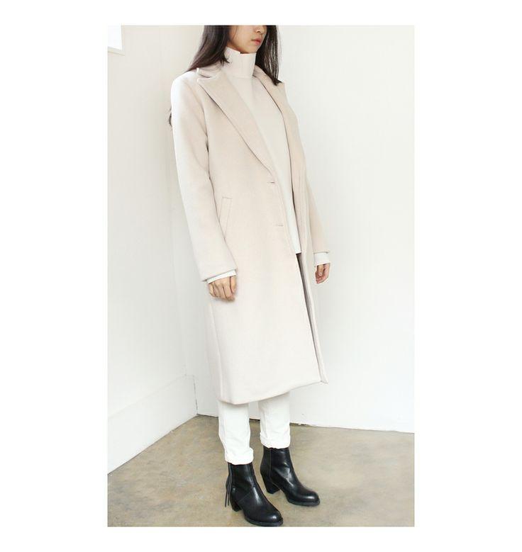 cashmere wool long coat  www.g-r-a-b.com