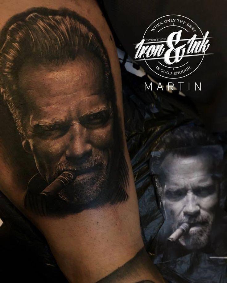 Arnold Schwarzenegger tattoo   Artist - Martin Rothe  website: https://www.facebook.com/Martinrotheironink/?fref=ts
