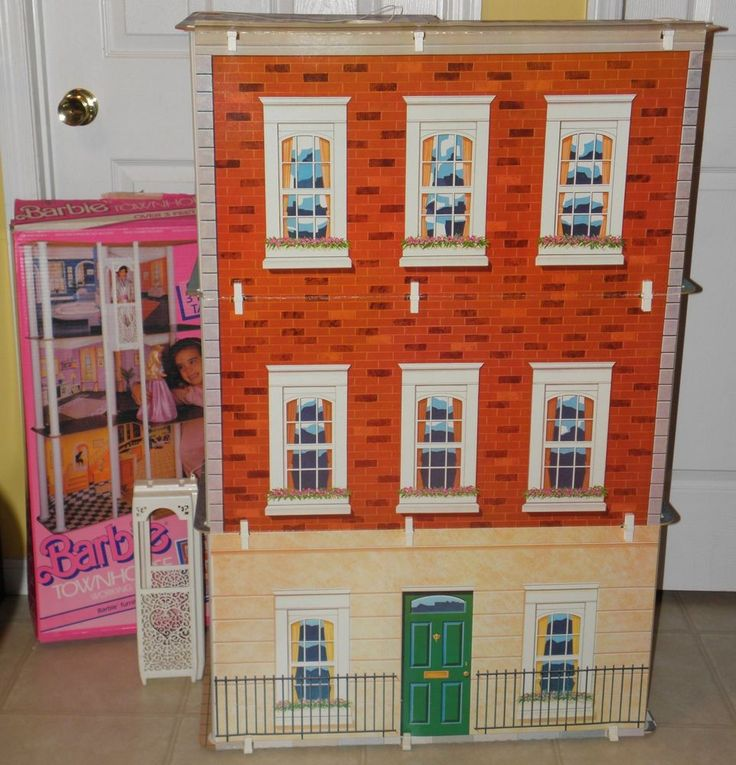 "Vintage 1984 BARBIE TOWNHOUSE 43"" TALL Home House #7825 WITH BOX Mattel #Mattel"