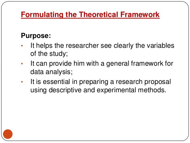 Conceptual And Theoretical Framework Proposal Paper Research