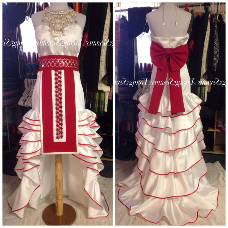 Modern Hmong Wedding Dress