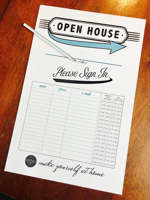 Vintage Style Sign In Sheets 11x17 80lb Etsy Open House Real Estate Real Estate Marketing Gifts Real Estate Buyers