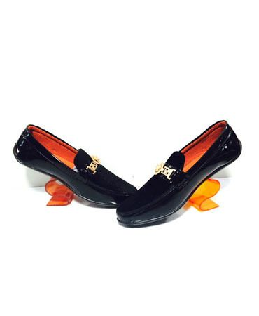 Versace Black Loafers size 8