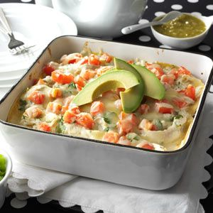 Salsa Verde Chicken Casserole Recipe from Taste of Home -- shared by Janet McCormick of Proctorville, Ohio