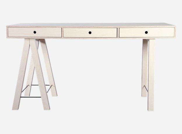 Mf0200 - Desk, Mix, 150x65 cm, h.: 76 cm, birch veneer