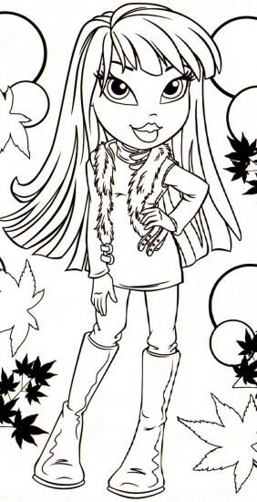 monster high bratz coloring pages-#27
