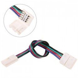 10mm 4 Pin two Connector with Cable For SMD LED 5050 RGB Strip Light