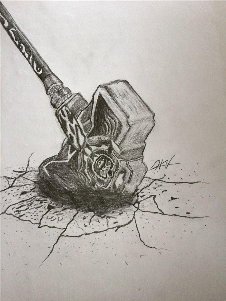 Mjölnir, Thor's Hammer drawing