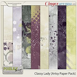 {Classic Lady} Digital Artsy Papers by Pixelily Designs available at Gingerscraps http://store.gingerscraps.net/Pixelily-Designs/ #digiscrap #digitalscrapbooking #pixelilydesigns #classiclady
