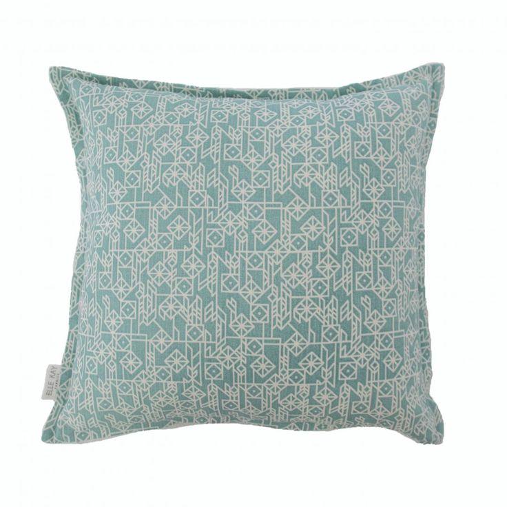 Elle Kay Fabrics Kite Aqua Scatter Cushion