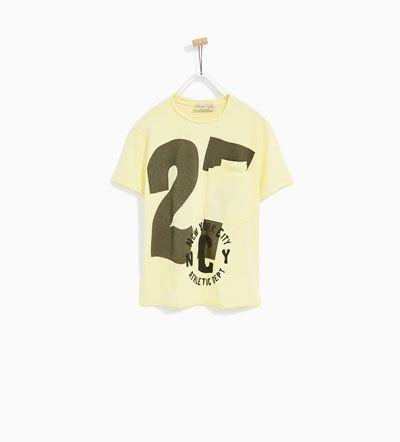 T-SHIRT 27 DUBBELE ZAK-T-SHIRTS-JONGENS | 4 - 14 jaar-KINDEREN | ZARA België