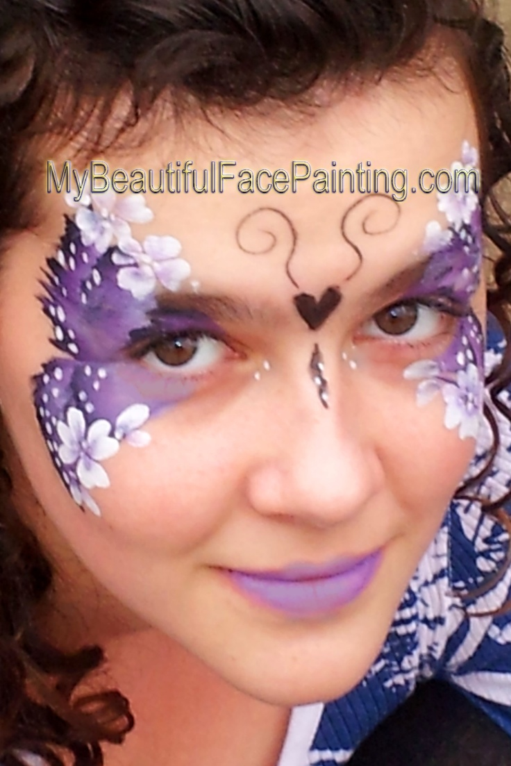 best face painting filles images on pinterest