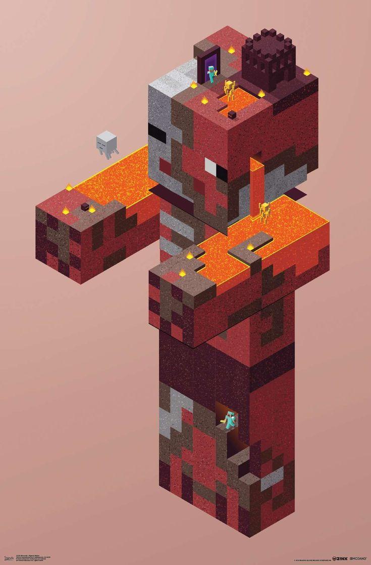 Minecraft pigman nether minecraft posters minecraft