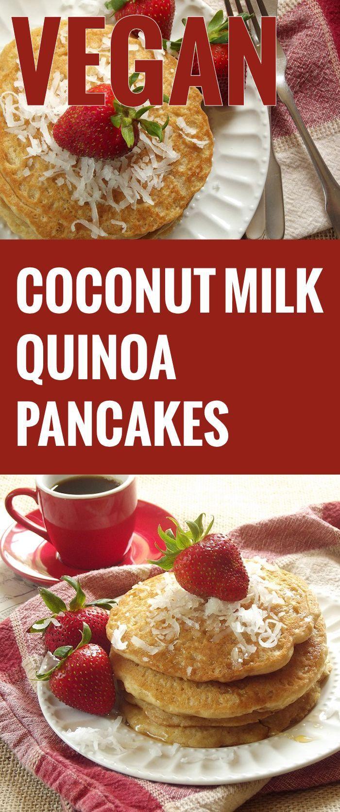 Vegan Coconut Milk Quinoa Pancakes