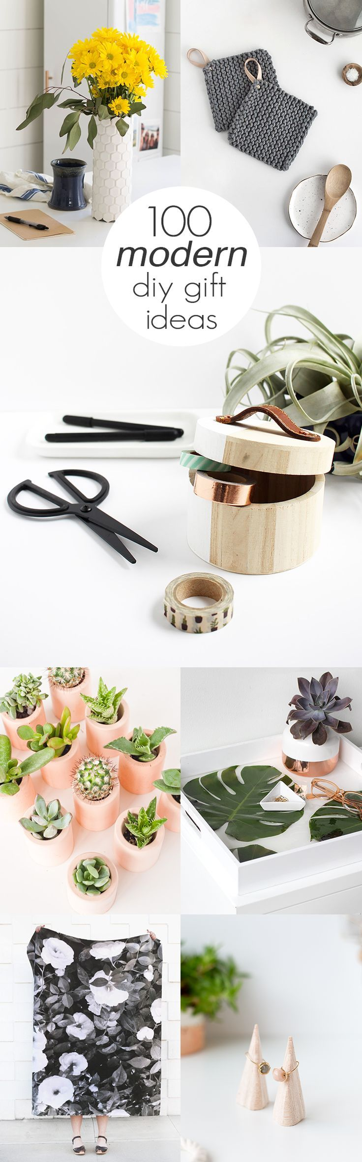 It's December but there's still time for handmade gifts! Check out these 100 modern DIY gift ideas for inspiration.