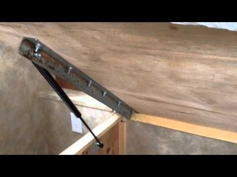 Installation Of Gas Lift Cylinders For RV Bed Lift YouTube Murphy Bed Ikea Bed Lifts