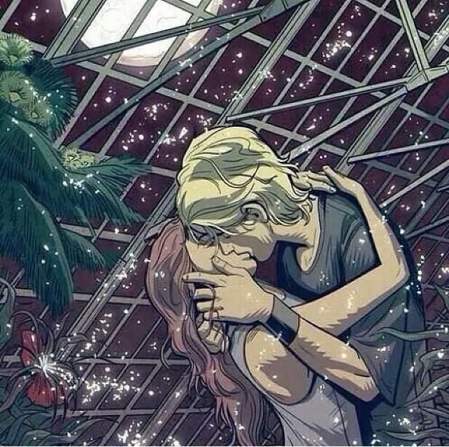 This is the best fan art I've seen of this scene. The green house kiss in the…