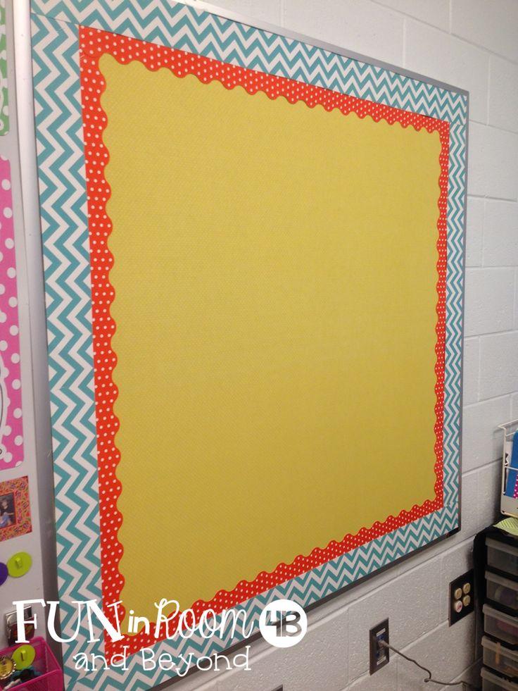 Fun in Room 4B: Making Bulletin Board Fabric Work {A Bright Idea}