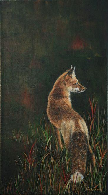 Distinguished Visitor-Fox - Red FoxbyWendyPalmer