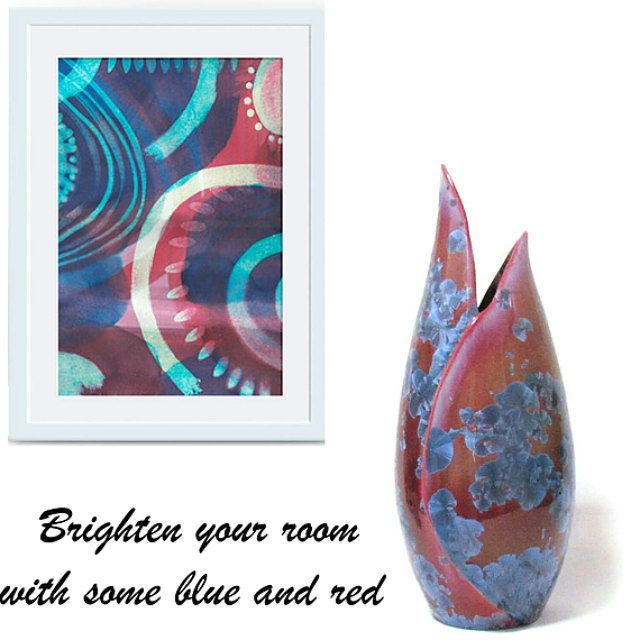 Handcrafted pottery specialising in crystal by SunbirdPottery