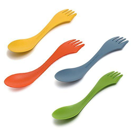 Light My Fire Original BPA-Free Tritan Spork Multi-Color 4-Pack  The perfectly designed outdoor eating utensil, the Light My Fire spoon-fork-knife combo brings a bit of civilization to the wild and a bit of the wild to civilization. Triton plastic is BPA-free, won't scratch cookware, won't melt in in boiling water and is dishwasher safe. The Spork is perfect for your backpack, boat, picnic basket, lunchbox, purse or briefcase. Designed especially for Light My Fire by Scandinavian designer…