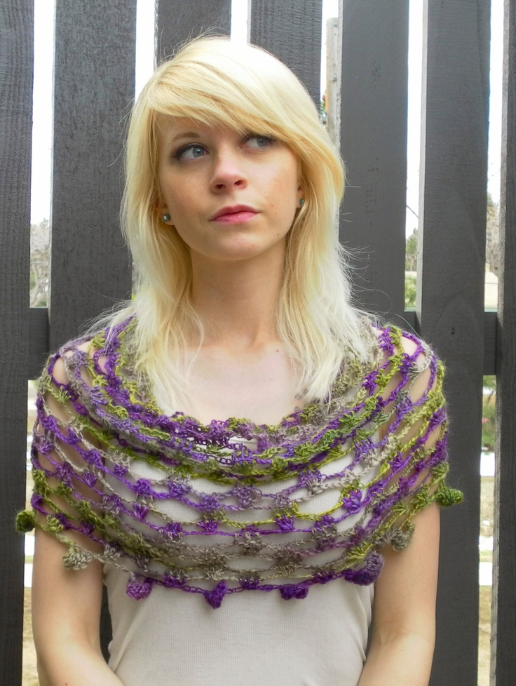 Honeycomb Lace Stole Crochet Prom Wrap in Grape Vine.... this so looks like something my Emily would love!