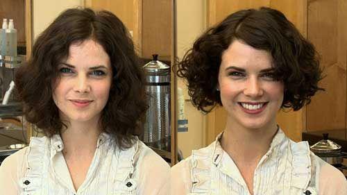 Beste lockige kurze Frisuren für runde Gesichter, #Beste #Frisuren #für #Gesichter #kurze #l…