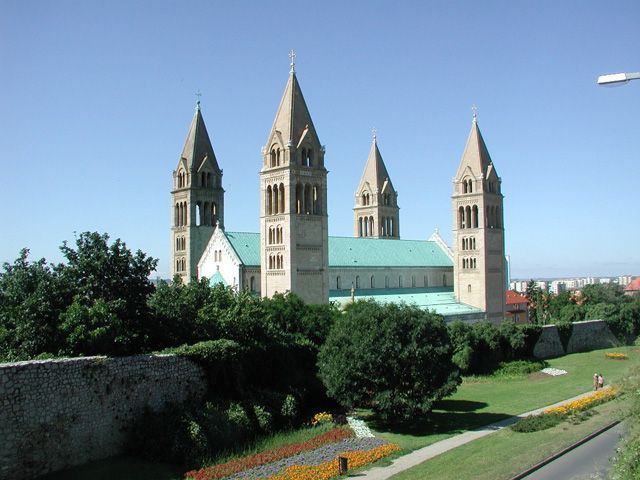 View of the Cathedral of Pécs (Pécs cathedral), Pécs city in Hungary (Photo by uzo19, Wikipedia)