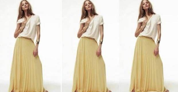 Faldas plisadas largas: tendencia destacada esta temporada