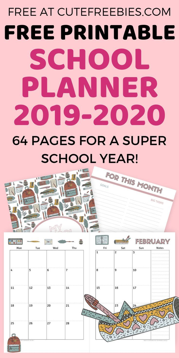 Free Printable School Planner For 2020 2021 Free School