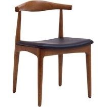 LexMod Tracy Wood Dining Chair with Faux Leather Seat