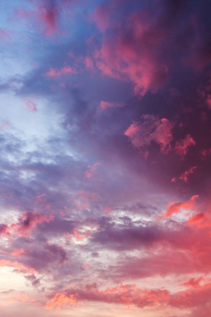 Wolken beim Sonnenuntergang #wolken #clods #sky #h…
