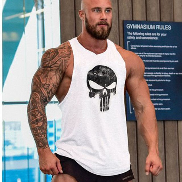 Men's Fitness Crossfit Undershirt Tank Top