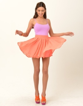 Chiffon Pleated skirt in peach, AU$31.82, US32.41 from Supre', Australia. Also comes in many other colours.