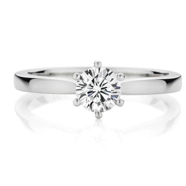 Platinum Diamond Solitaire Total diamond weight 0.50ct