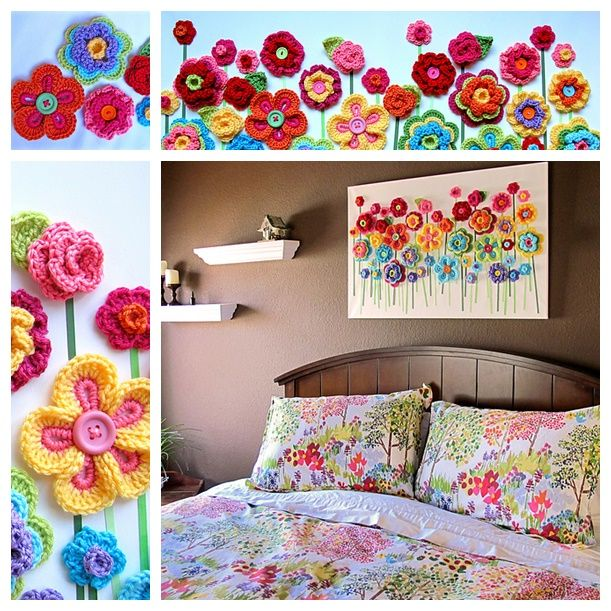 These crochet button flowers are too beautiful to wait for making ! They bring a spring feeling for me  Check #pattern--> http://wonderfuldiy.com/wonderful-diy-easy-crochet-button-floral-fantasy/  #diy #crochetflower